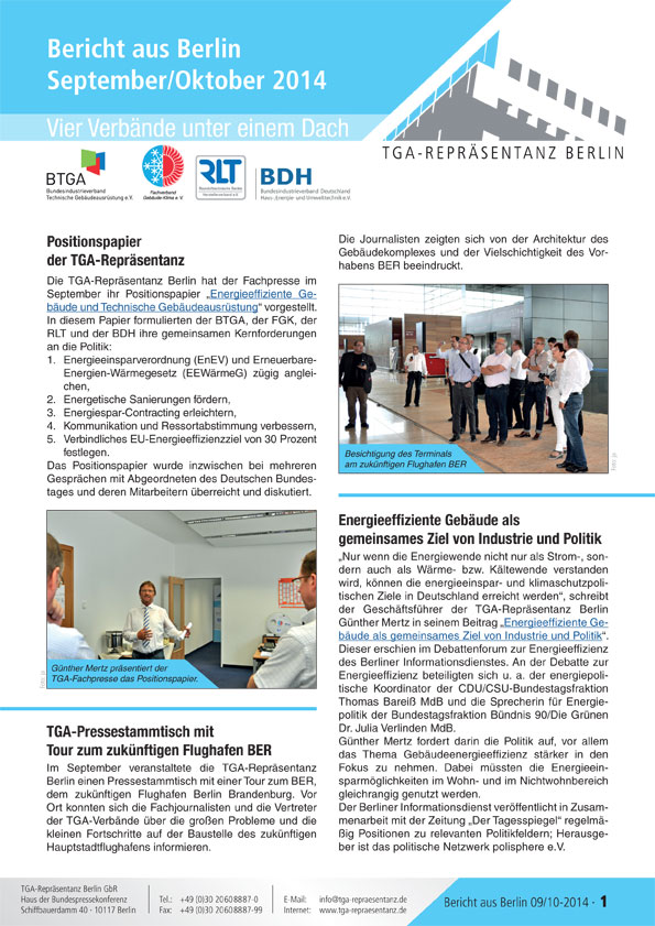 Berlin-Bericht 04 September-Oktober 2014